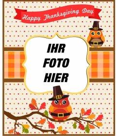 Thanksgiving Postkarten und Rahmen