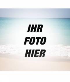 Collage mit einem Sommer-Paradies-Strand als Filter zu Ihren Bildern hinzufügen