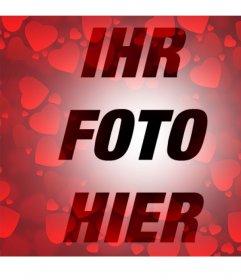 Filter mit vielen roten Herzen zu Ihren Fotos hinzufügen