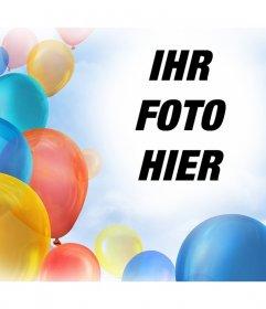 Foto-Effekt mit Luftballons Ihre Bilder schmücken kostenlos