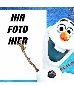 Foto-Effekt, um das Foto zusammen mit Olaf aus dem Animationsfilm Gefrorenes