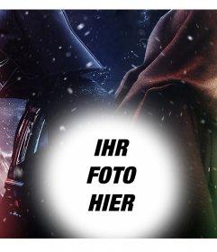Original-Star Wars-Effekt, bei dem Sie Ihr Foto laden