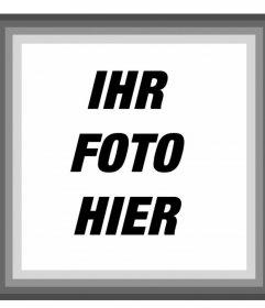 Rahmen mit grauen Rändern, wo Sie Ihr Foto Online-