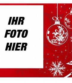 Weihnachtsbilderrahmen für Ihr Foto