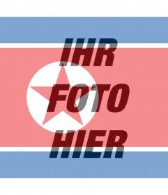 Flagge von Nordkorea hinzufügen, wie ein Filter, um Ihre Fotos Photo Wirkung