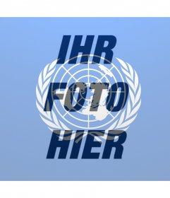UN-Flagge über Ihr Foto