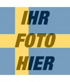 Fotoeffekt der schwedischen Flagge für Ihre Foto-