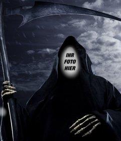 Fotomontage Ihr Gesicht im Dunkeln Reaper zu setzen