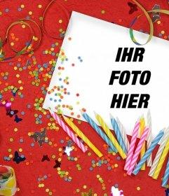 Geburtstags-Foto-Effekt zu laden Sie Ihr Foto