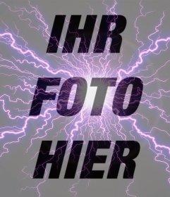 Fotoeffekt eines violetten Blitz für Ihre Fotos