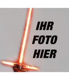 Foto Wirkung Kylo Ren Lichtschwert für Ihr Foto