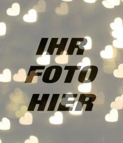 Filter herzförmigen Lichter für Ihre Fotos