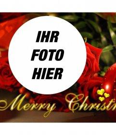 Weihnachtsfoto-Effekt mit einer Kerze für Ihr Foto