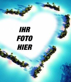 Foto Wirkung einer Landschaft mit einem Herz Ihr Bild hochladen