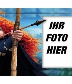 Charakter des Films Brave mit seinem Bogen, wo Sie mit Ihrem Foto