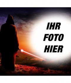 Fotoeffekt von Star Wars, um ein Foto