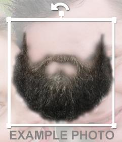 Fotomontage, um einen Bart auf Ihr Foto zu setzen