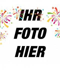 Dekorative Fotoeffekt mit farbigen Konfetti für Ihre Fotos