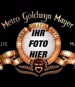 Fotomontage, um Ihr Bild in das Logo der Metro Goldwyn Mayer setzen
