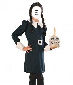 Erstellen Sie eine erschreckende Fotomontage mit dieser Fotografie von Wednesday Addams
