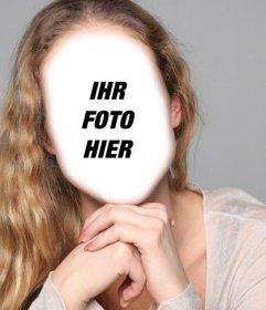 Fotomontage zu ändern blonde Haare wellig gekämmt