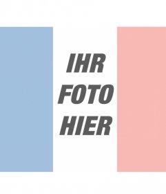 Fotomontagen mit der französischen Flagge auf Ihrem Foto
