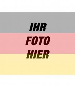 Deutsche Flaggenfilter zum Aufziehen Ihres Fotos