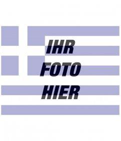 Fotomontagen Schöpfer der Griechenland-Flagge mit einem Bild, das Sie hochladen