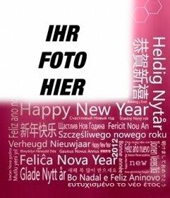 Neujahrsgrüße in verschiedenen Sprachen, um Ihr Foto setzen