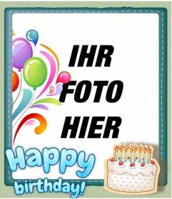 Kostenlose Geburtstagskarte mit kundengerecht, ein Foto