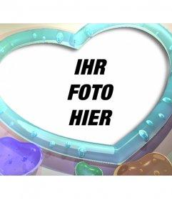 Fotorahmen mit Herz-Form und Farben Herzen