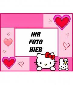 Bilderrahmen und Fotomontagen mit Hallo Kitty