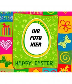 Colorful Easter Holiday Postkarte mit Ihrem Foto