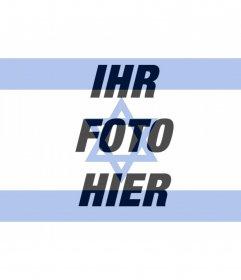 Flagge von Israel zum Einfügen deines Profilfotos