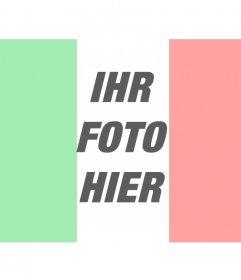 Flagge von Italien Fotomontagen online
