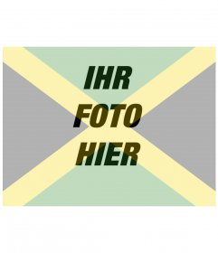 Collage, die Flagge von Jamaika zusammen mit Ihrem Foto setzen