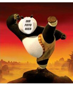 Seien Sie Kung Fu Panda mit dieser Fotomontage, die Sie kostenlos