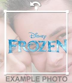 Gefrorene logo Disney, um Ihre Fotos online zu stellen