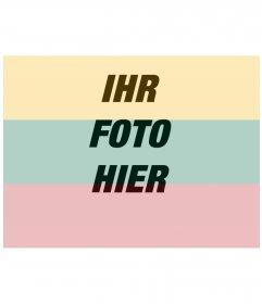 Fotomontage, die Flagge Litauen zusammen mit Ihrem Foto online zu stellen