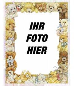 Fotorahmen mit Bildern von Babys Bären rund um Ihr Bild