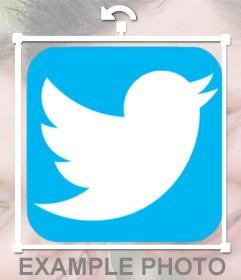 Füge twitter logo zu deinen Fotos online hinzu
