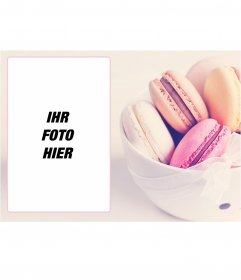 Fotorahmen mit einem Bild von Macarons