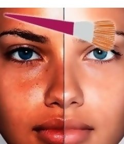 Online-Effekt von virtuellem Make-up, um schöner zu sein