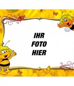 Kinderbilderrahmen mit Maya Bee personalisieren