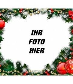 Bilderrahmen mit einem Weihnachts-Girlande