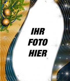 Vertikale Weihnachtsvorlage, um Ihr Foto setzen