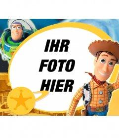 Toy Story Kinder Rahmen mit den beiden Hauptfiguren in dem Film