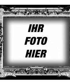 Rahmen in schwarz und weiß mit viktorianischen Stil für Ihre Fotos Ihr Bild zu diesem Jahrgang schwarzen und weißen Rahmen Laden