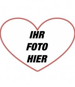 Maske Fotos mit Herzform mit rotem Rand, die Sie ein Hintergrundbild hinzufügen