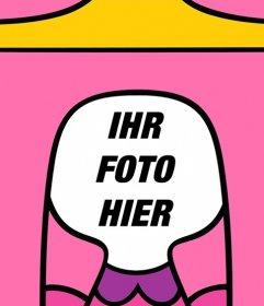 Facial Fotomontage zu werden Prinzessin Bubblegum von Adventure Time! Laden Sie